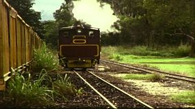 Vintage 8mm film footage of the Balley Hooley Steam Train, at Mossman Sugar MIll in Queensland, Australia in June 1983.
