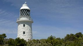 The cape naturaliste lighthouse, in the leeuwin-naturaliste national park, in the south west of western australia. tracking shot.