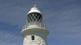 The Cape Naturaliste lighthouse, in the leeuwin-naturaliste national park, in south western Australia.