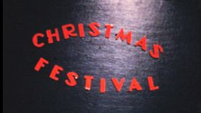 A funky cool home made Christmas party title sequence from December 1963.