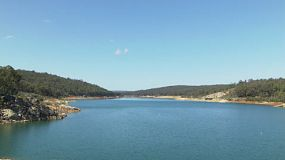 Lake C.Y. O'Connor (previously known as Helena River Reservoir) near Perth Western Australia, as seen from Mundaring Weir.