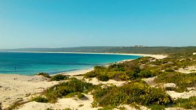 Looking across the dunes to the beautiful Hamelin Bay in Western Australia's South West.