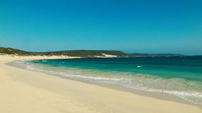 The beautiful beach at Hamelin Bay in Western Australia on a clear day in spring.