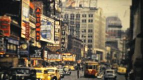 The old historic Strand Theatre in busy downtown New York City in 1940.