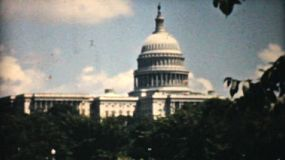 The United States Capitol in Washington, D.C., is the meeting place of the U.S. Congress, the legislature of the U.S. federal government. Seen here in 1940, it sits atop Capitol Hill at the eastern end of the National Mall.