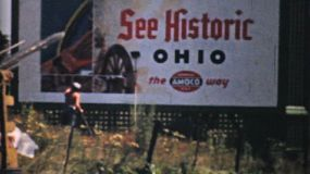 Visiting historic Cleveland, Ohio on a trip across America in the summer of 1940.