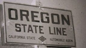 Taking a driving trip from California to Oregon on the new highway in 1940.