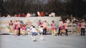 Scenes from an outdoor Figure Skating year end show in Philadelphia, Pennsylvania in 1962.