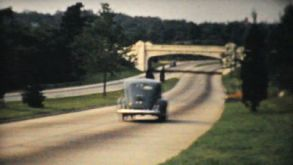 Cars Driving Down Toll Highway In New York State-1940 Vintage 8mm Film