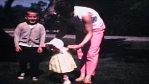 Family In Front Yard (1968 Vintage 8mm Film)