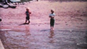 Kids Fishing In The Lake-1962 Vintage 8mm Film