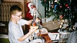 A teenage boy gets a cool new rocket ship on Christmas Day in Cleveland, Ohio in 1956.