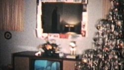 A Christmas Scene from 1960. (Vintage 8mm film footage)