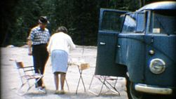 A family meets some cute American children while on a camping trip in the summer of 1967.