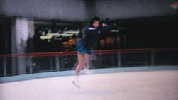 A teenage girl enjoys practicing leaping and jumping while figure skating at the Penn Center ice rink in downtown Philadelphia in December 1962.