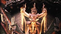 "Beautiful footage of the magnificent ""Grand Palace"" or Wat Phra Gaeow temple in Bangkok, Thailand in 1967."