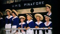 A group of high school students practice and perform Gilbert and Sullivan's classic musical HMS Pinafore in Cleveland, Ohio in 1956.