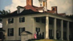 Visiting the home of George Washington in Mount Vernon, Virginia in the summer of 1940.