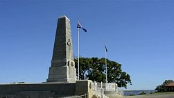 The state war memorial in king's park, perth, western australia, on a clear summer's day.