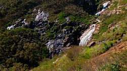 Waterfall in the hills of Perth, Western Australia, cascading down a hill.