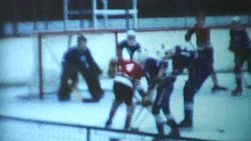 A classic clip of an indoor peewee ice hockey game being played during the winter of 1970 in Canada.