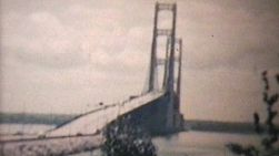 Old 8mm film footage of the Mackinac Bridge from 1960, 3 years after it was opened.