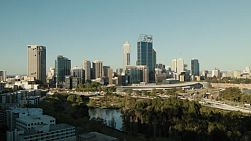 Time lapse of the City of Perth skyline, as seen from King's Park in Western Australia.