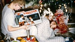 A young teenage boy gets a brand new Erector Set for Christmas in Cleveland, Ohio in 1956.