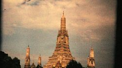 "Cool footage of the magnificent ""Temple of the Dawn"" or Wat Arun on the Chao Phraya River in Bangkok, Thailand in 1967."