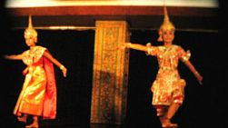 Beautiful Thai dancers perform various cultural and traditional dances in Bangkok, Thailand in 1958.