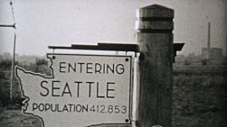 Visiting beautiful Seattle, Washington on a driving trip to the Pacific Northwest in 1940.