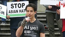 "VANCOUVER, BC, CANADA, MARCH 28th, 2021: The people of Vancouver take part in the peaceful ""Stop Asian Hate"" rally on March 28th, 2021 carrying signs and letting their voices be heard."
