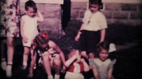All the cousins get together to hang out and pose for pictures in the summer of 1950!
