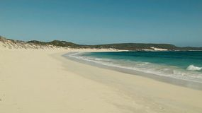 Beautiful sandy beach at Foul Bay in Australia's South West.