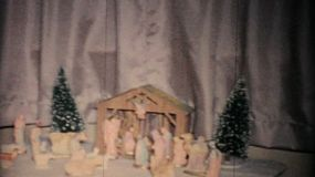 A beautiful Christmas nativity scene shot in December 1957.
