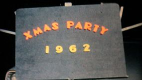A funky cool home made Christmas party title sequence from December 1962.