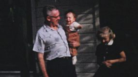 Grand kids enjoy spending time with the Grandparents during the summer of 1964.