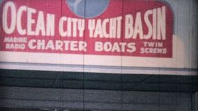 A cool clip of the Ocean City yacht club basin with lots of great looking vessels moored in the harbor in 1958.