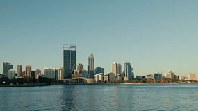 View of the Swan River with the Perth City skyline.