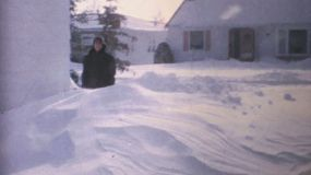 A classic Canadiana clip of a winter blizzard hitting hard during the middle of winter of 1970 in Canada.