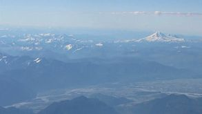 Aerial View Of Mount Baker And Fraser Valley
