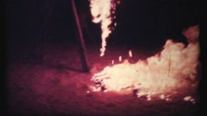 Bonfire Burning At The Beach-1978 Vintage 8mm Film