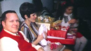 Family Opening Christmas Presents-1970 Vintage 8mm Film