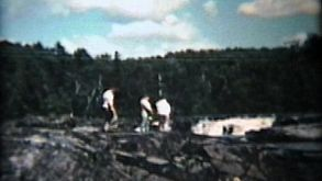 Family Visits Waterfall (1958 Vintage 8mm Film)