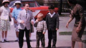 Kids Dancing Together In The Driveway-1962 Vintage 8mm Film