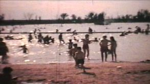 Kids Playing At The Beach (1966 - Vintage 8mm Film)