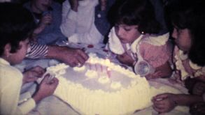 Little Girl Blowing Out Birthday Candles-1978 Vintage 8mm Film