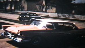 Old Cars Backing Up  (1964 Vintage 8mm Film)