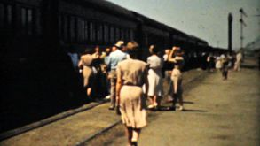 People Taking A Cross Country Train Trip-1940 Vintage 8mm Film