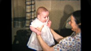 Proud Mother Holds Her Baby Girl (1939 Vintage 8mm)